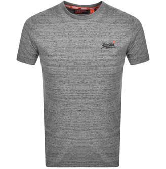 Superdry Vintage Short Sleeved T Shirt Grey