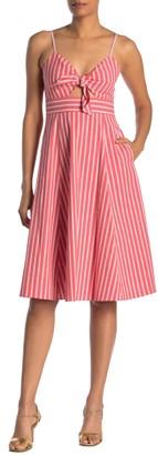 Rachel Roy Lucia Stripe Front Tie Dress