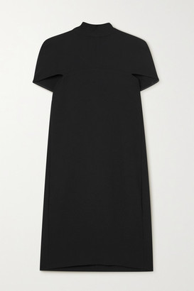 Victoria Victoria Beckham Crepe Cape-effect Tie-detailed Mini Dress