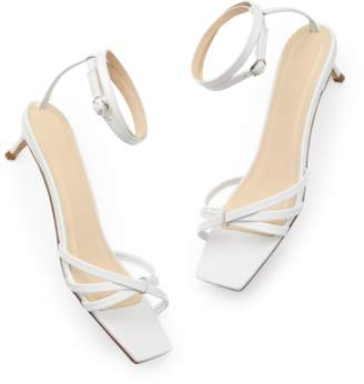 By Far Shoes BY FAR Shoes Kaia Leather Sandals Heels