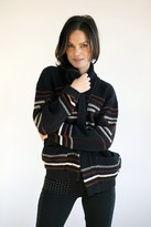 Goddis Numa Jacquard Cardigan In Black Cherry