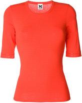 M Missoni half sleeve scoop neck top - women - Polyester/Viscose - 38