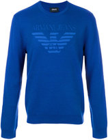 Armani Jeans logo patch sweater