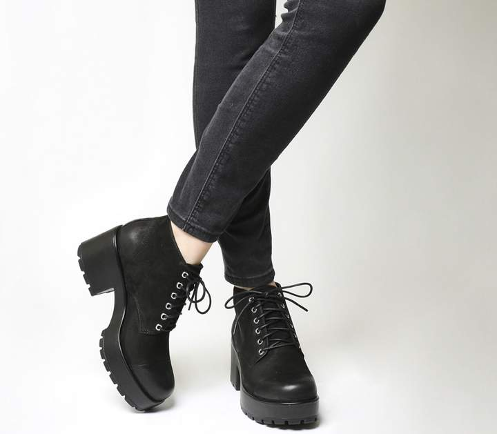 59d2bf0bbaa Dioon Lace Up Boots Black Nubuck