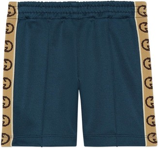 Gucci Baby technical jersey trousers with InterlockingG