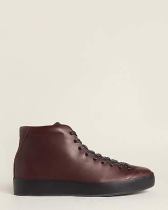 Rag & Bone Oxblood RB1 Leather High-Top Sneakers