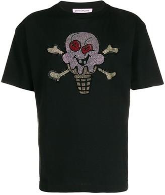 Palm Angels x Ice Cream Skull embellished T-shirt