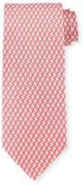 Salvatore Ferragamo 3D Gancini-Print Silk Tie
