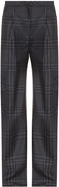 ADAM by Adam Lippes Wide Leg Checkered Pleat Trousers