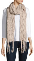 Collection 18 Open-Knit Fringed Scarf