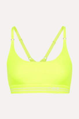 Adam Selman Neon Stretch Sports Bra - Yellow