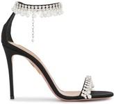 Aquazzura Exquisite 105mm embellished sandals