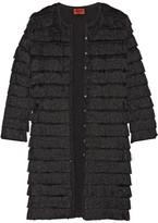 Missoni Fringed Stretch-knit Cardigan - Black