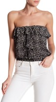 Angie Strapless Ruffle Crop Tank