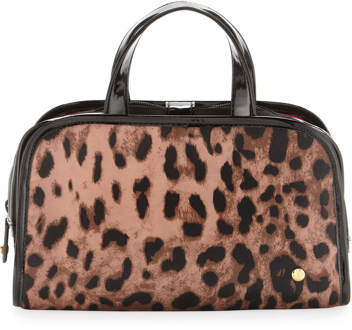Stephanie Johnson Lucinda Makeup Case, Leopard