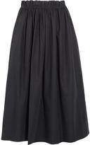 Chloé Cotton-poplin Midi Skirt - Navy