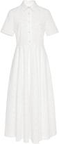 Co Poplin Flower Cutout Shirt Dress