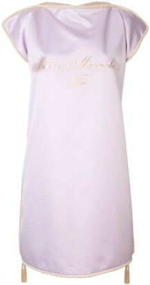 MM6 MAISON MARGIELA Gold Logo Print Shift Dress