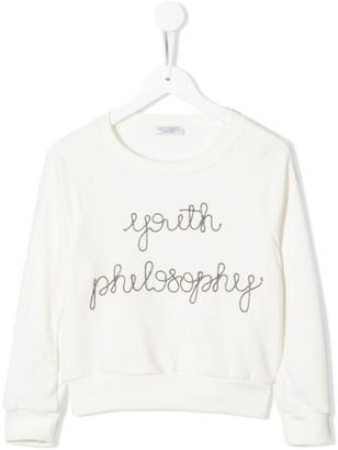 BRUNELLO CUCINELLI KIDS Monili-Embellished Sweatshirt