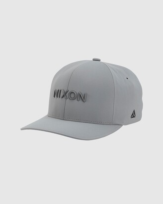 Nixon Silver Hats - Delta FlexFit Hat - Size One Size, L/XL at The Iconic
