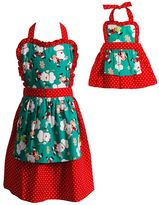 Dollie & Me Girls 4-16 Santa Apron Set