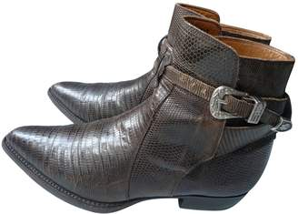 Non Signé / Unsigned Non Signe / Unsigned Hippie Chic Brown Lizard Ankle boots