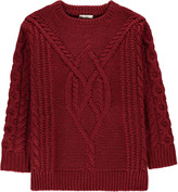 Sessun Cable Knit Mohair Cill Oversized Pullover