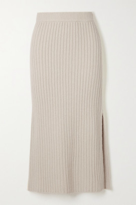 Altuzarra Orville Ribbed-knit Midi Skirt - Ivory