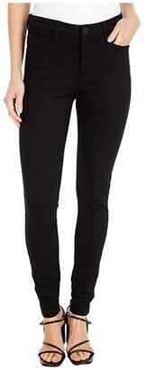 KUT from the Kloth Mia High-Rise Fab Ab Toothpick Skinny Five-Pocket in Black (Black) Women's Jeans