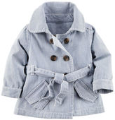 Carter's Hickory Stripe Denim Coat
