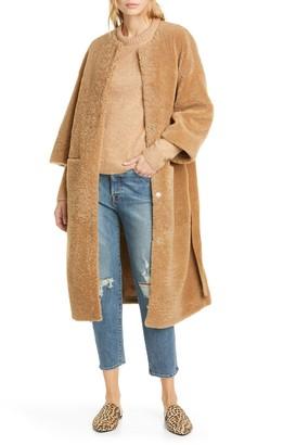 Jenni Kayne Genuine Shearling Wrap Coat