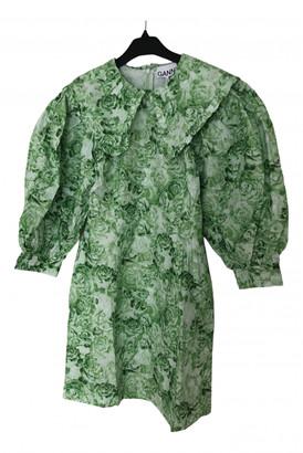 Ganni Spring Summer 2020 Green Cotton Dresses