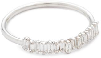 Suzanne Kalan 18k Fireworks Gold Diamond Half Band Ring