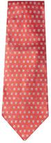 Chanel Vintage Red Clover Silk Jacquard Tie