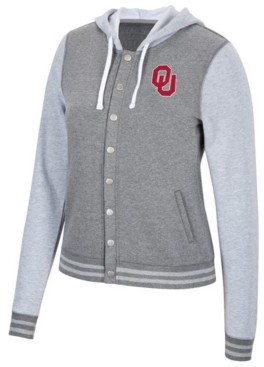 Top of the World Women's Oklahoma Sooners Varsity Snap Jacket