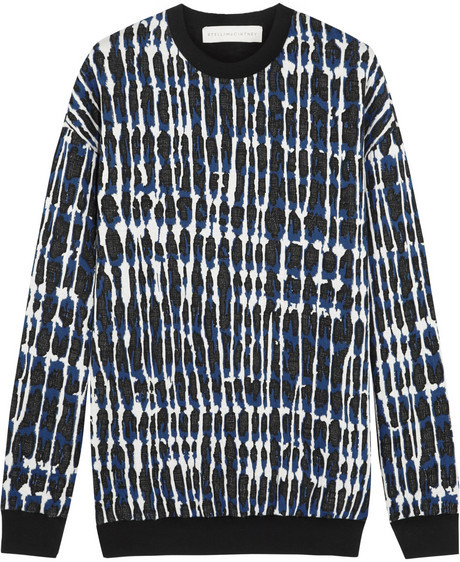 Stella McCartney Quilted cotton-blend jersey sweatshirt