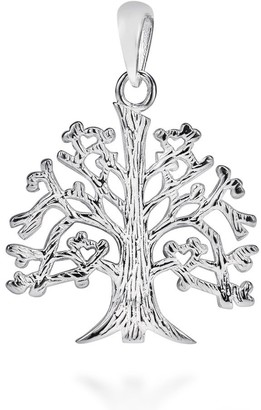 Aeravida Handmade Sterling Silver Textured 'Tree of Life' Branches Root Charm Pendant
