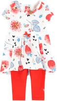 Catimini Printed dress and matching leggings