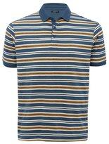 M&Co Striped jersey polo shirt