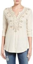 Lucky Brand Women's Embellished Bib Top