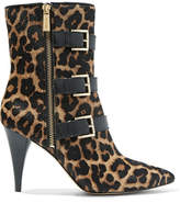 MICHAEL Michael Kors Lori Leopard-print Calf Hair Ankle Boots - Leopard print