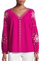 Tory Burch Therese Cotton Embroidered Tunic