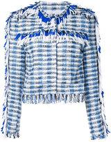 MSGM embroidered blazer - women - Cotton/Acrylic/Polyamide/Wool - 40