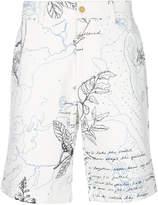 Alexander McQueen Explorer print chino shorts