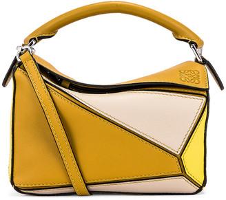 Loewe Puzzle Mini Bag in Ochre & Yellow | FWRD