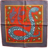 One Kings Lane Vintage Hermès L'Annee du Serpent Pochette Scarf