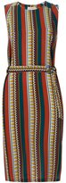 Tory Burch striped midi dress - women - Silk - 6