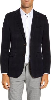 Ted Baker York Slim Fit Check Velvet Blazer