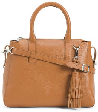 Made In Italy Leather Vachetta Satchel