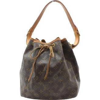 Louis Vuitton Brown Cloth Handbag